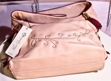 Bag mod.Lorenza, col. Pink, ricamo fatto a mano, con bordi